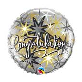 Congratulations Elegant round balloon